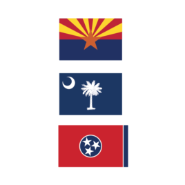 Driver Flag Decals – States
